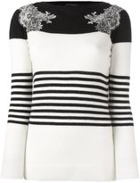 Ermanno Scervino colour block striped jumper