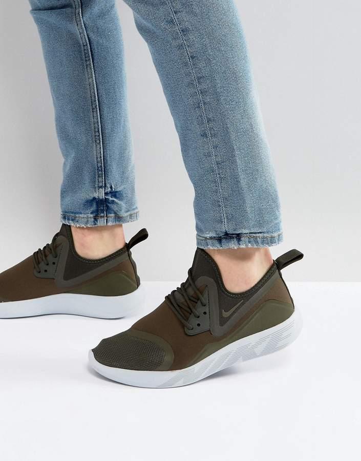 Nike Lunar Charge Sneakers In Green 923619-301
