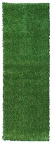 "Ottomanson Evergreen Collection Indoor/Outdoor Green Artificial Grass Turf Solid Design Runner Rug, 2'7"" x 8'"