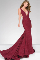 Jovani Fitted Plunging V- Neckline Prom Dress 47075