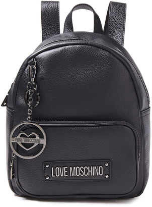 Love Moschino Logo-embellished Pebbled-leather Backpack
