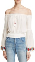 Band of Gypsies Embroidered Off-the-Shoulder Top