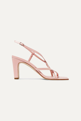 BY FAR Carrie Leather Slingback Sandals - Baby pink