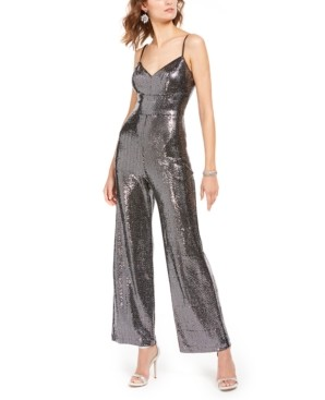 Brinker & Eliza Allover-Sparkle Jumpsuit
