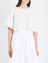 Co Cable-knit cropped wool and cashmere-blend jumper