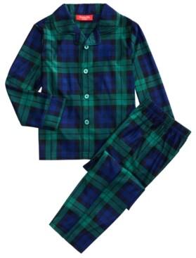 Matching Family Pajamas Kids Black Watch Plaid Pajama Set, Created for Macy's