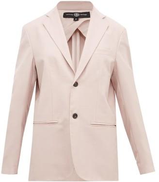 Edward Crutchley Single-breasted Wool Jacket - Womens - Pink