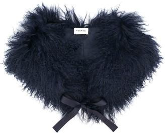 P.A.R.O.S.H. Bow-Detail Fur Scarf