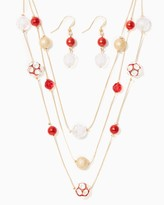 Charming charlie Merry Balls & Baubles Necklace Set