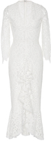 Alexis Nadege White Ruffled Lace Dress