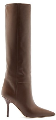 Paris Texas Mama Leather Knee-high Boots - Dark Brown