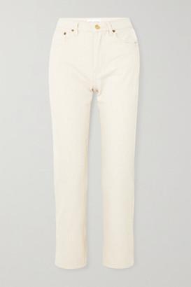 STILL HERE Tate Crop High-rise Straight-leg Jeans