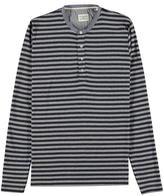 Lindbergh Striped Button Fasten T Shirt