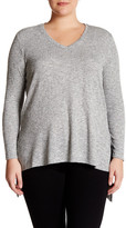 Vince Camuto Long Sleeve Hi-Lo Hem Sweater (Plus Size)