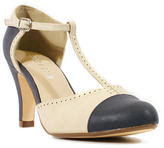 Navy & Cream T-Strap Galaxy Pump