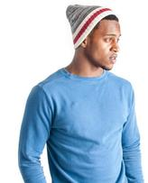 Muk Luks Men's Marled Knit Cap With Sock-Style Stripe Cuff - Red