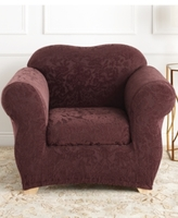 Sure Fit Stretch Jacquard Damask Slipcover Collection