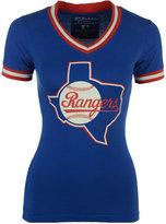 American Needle Women's Texas Rangers Eephus Vneck T-Shirt