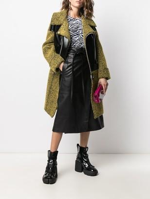 Junya Watanabe Herringbone Panelled Midi Coat