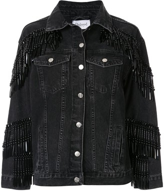 Bead-Fringe Denim Jacket