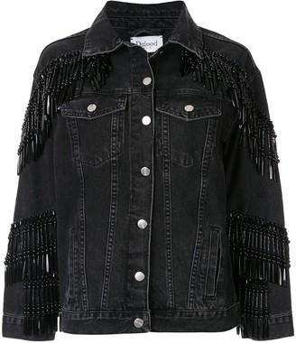 Dalood Bead-Fringe Denim Jacket