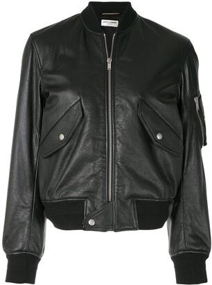 Saint Laurent Zip-Up Bomber Jacket