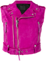 Giuseppe Zanotti Design Amelia biker gilet - women - Leather/Viscose - S