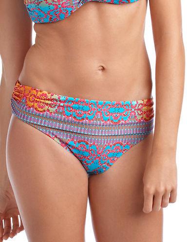 Nanette Lepore Bejeweled Foldover Hipster Swim Bikini Bottoms