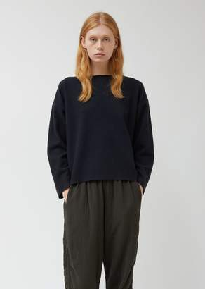 Black Crane Navy Wool Pullover