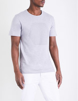 Calvin Klein Hexagon-motif cotton-jersey T-shirt
