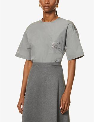 Max Mara Amati logo-embellished shell T-shirt