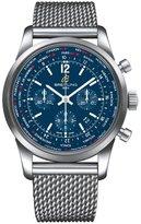 Breitling Men's Transocean 46mm Steel Bracelet Automatic Watch AB0510U9/C879SS