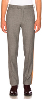 Calvin Klein Fancy Wool Check Marching Band Pants in Gray,Checkered & Plaid.