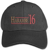 Comeherego Harambe 2016 Youth Unisex Adjustable Low Profile Baseball Cap In 4 Colors