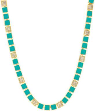 Freida Rothman Harmony Turquoise Enamel Collar Necklace