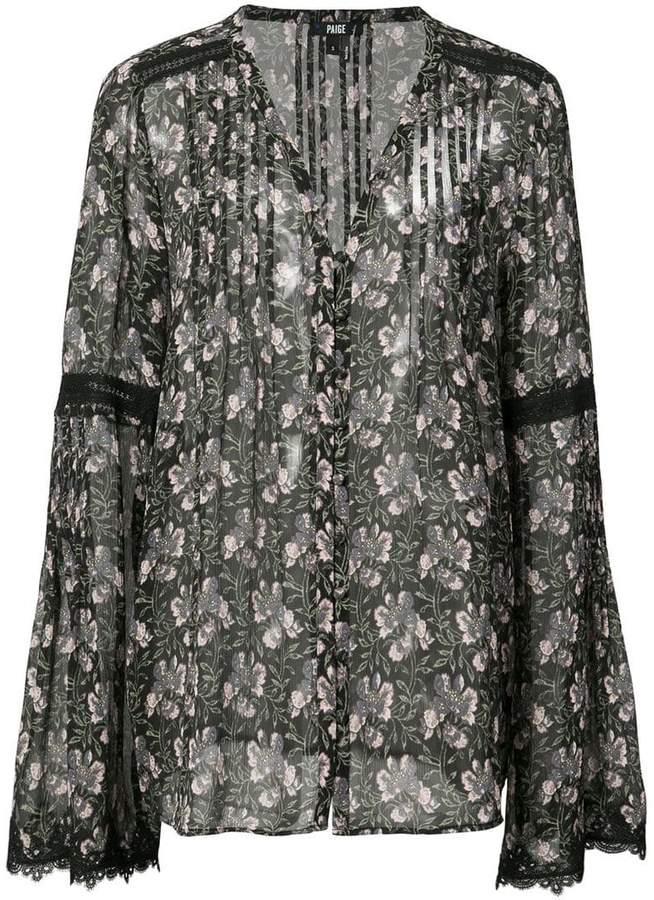 Paige floral print shirt