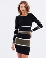 Sass Stripe Body-Con Dress