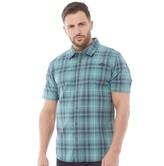 Weird Fish Mens Charter Short Sleeve Shirt Mineral Blue