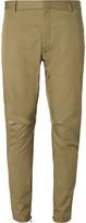 Lanvin Tapered Cotton-Twill Biker Trousers