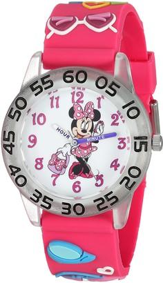 Disney Girls Minnie Mouse Analog-Quartz Watch with Plastic Strap