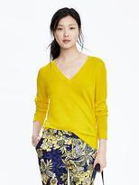 Banana Republic Extra-Fine Merino Wool Pointelle Vee Pullover