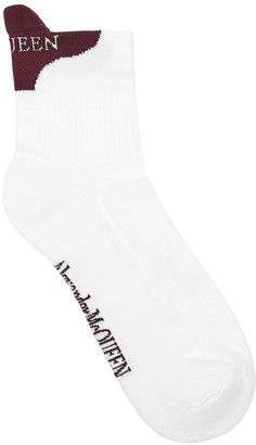 Alexander McQueen White Logo Cotton-blend Socks