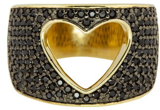 RAGEN Jewels Cutout Heart Pave Ring