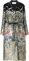 Valentino floral and bird jacquard coat