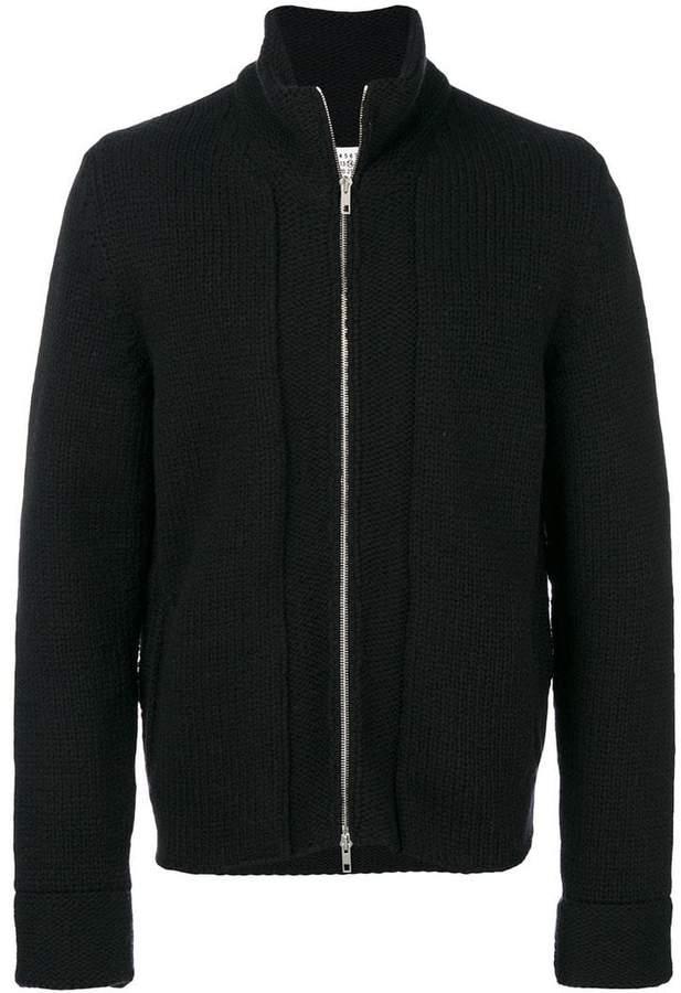Maison Margiela zipped knitted sweater