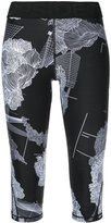 The Upside flower print capri leggings - women - Nylon - XXS