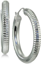 Giani Bernini Textured Tube Hoop Earrings in Sterling Silver, Only at Macy's