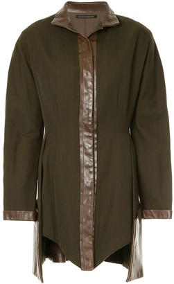 Yohji Yamamoto Pre-Owned stand-collar asymmetric jacket