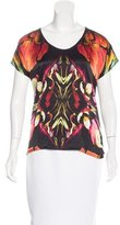 Barbara Bui Printed Short Sleeve Top