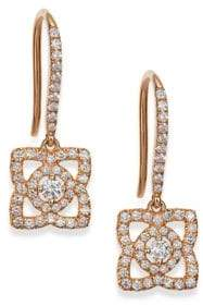 De Beers Enchanted Lotus Diamond& 18K Rose Gold Drop Earrings